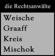 Logo der Anwaltsbürogemeinschaft Weische, Graaff, Kreis und Mischok